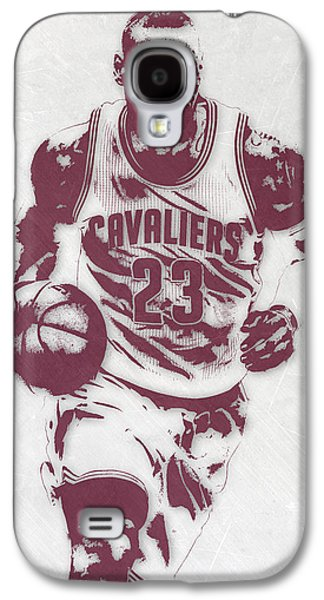 Lebron James Cleveland Cavaliers Pixel Art 4 Galaxy S4 Case by Joe Hamilton