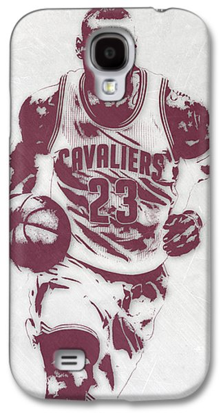 Lebron James Cleveland Cavaliers Pixel Art 4 Galaxy S4 Case