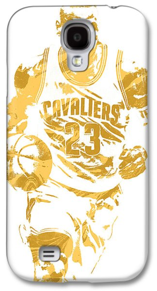 Lebron James Cleveland Cavaliers Pixel Art 7 Galaxy S4 Case by Joe Hamilton