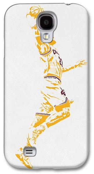 Lebron James Cleveland Cavaliers Pixel Art Galaxy S4 Case by Joe Hamilton