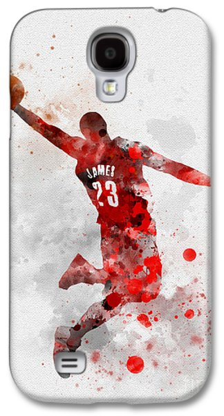 Lebron James Galaxy S4 Case by Rebecca Jenkins