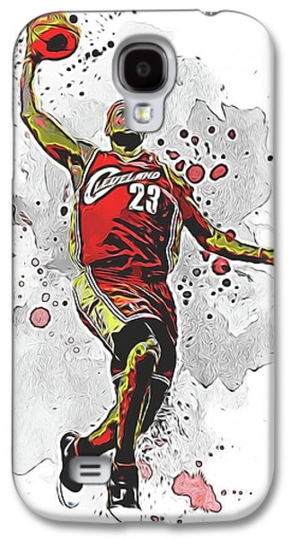Lebron James Slam Dunk Galaxy S4 Case