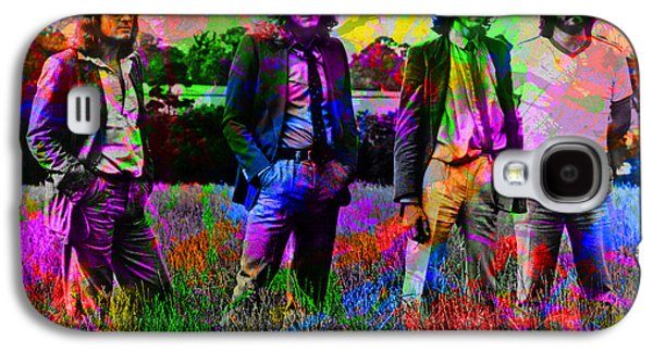 Led Zeppelin Band Portrait Paint Splatters Pop Art Galaxy S4 Case