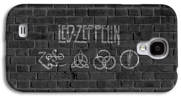 Led Zeppelin Brick Wall Galaxy S4 Case by Dan Sproul