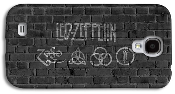 Led Zeppelin Brick Wall Galaxy S4 Case by Dan Sproul