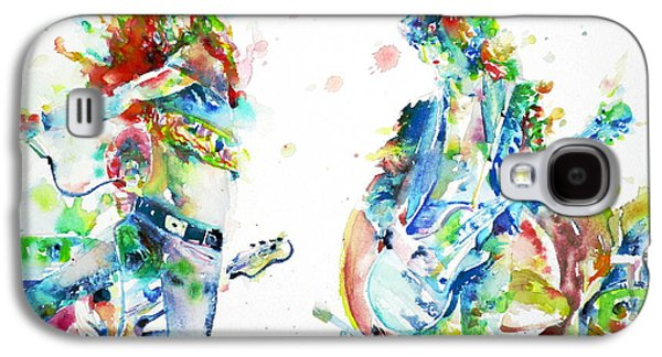 Led Zeppelin Live Concert - Watercolor Portrait.1 Galaxy S4 Case by Fabrizio Cassetta