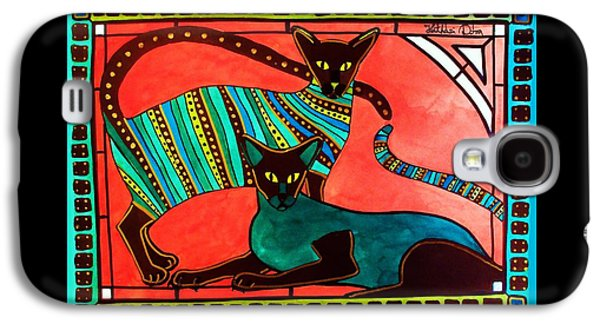 Legend Of The Siamese - Cat Art By Dora Hathazi Mendes Galaxy S4 Case