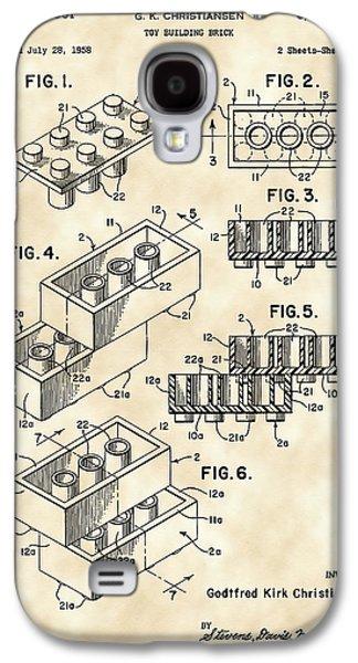Lego Patent 1958 - Vintage Galaxy S4 Case