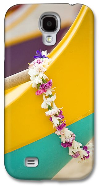 Overhang Photographs Galaxy S4 Cases - Lei draped over outrigger Galaxy S4 Case by Dana Edmunds - Printscapes
