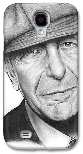 Leonard Cohen Galaxy S4 Case by Greg Joens