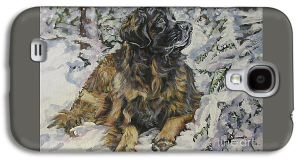 Leonberger In The Snow Galaxy S4 Case