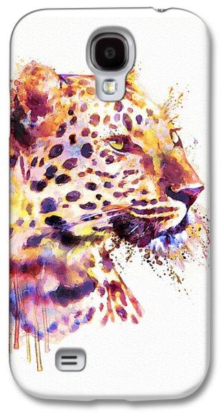 Leopard Head Galaxy S4 Case by Marian Voicu