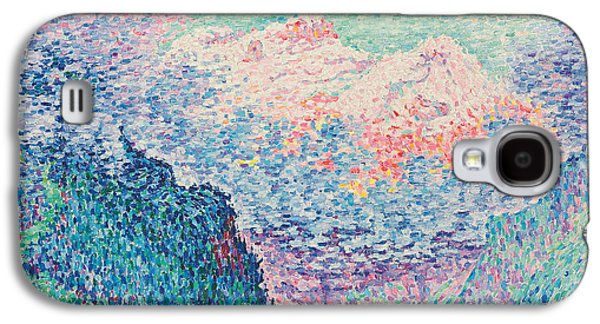 Pointillist Paintings Galaxy S4 Cases - Les Diablerets Galaxy S4 Case by Paul Signac