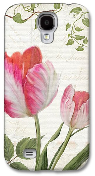 Les Magnifiques Fleurs I - Magnificent Garden Flowers Parrot Tulips N Indigo Bunting Songbird Galaxy S4 Case