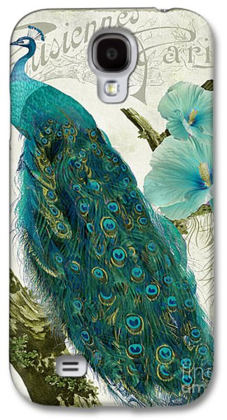 Peacock Galaxy S4 Case - Les Paons by Mindy Sommers