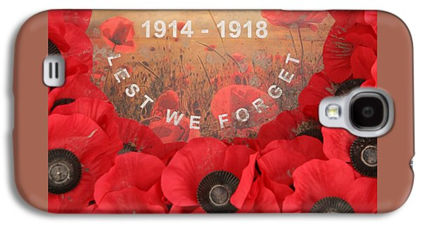 Lest We Forget - 1914-1918 Galaxy S4 Case by Travel Pics