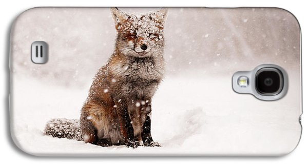 Let It Snow 6 - Christmas Card Red Fox In The Snow Galaxy S4 Case
