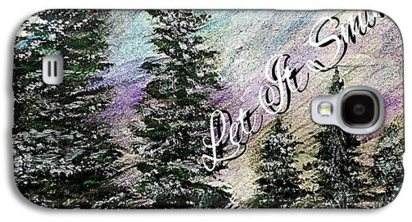 Let It Snow Greeting Card Galaxy S4 Case by Scott D Van Osdol