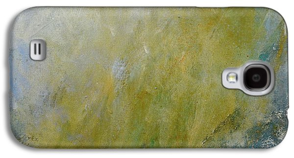 Silver Turquoise Galaxy S4 Case - Let The Earth Bring Forth Grass by Laurie Hein