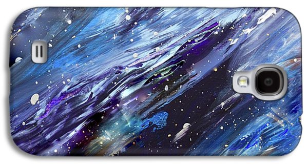 Silver Turquoise Galaxy S4 Case - Let There Be A Firmament In The Midst Of The Waters by Laurie Hein