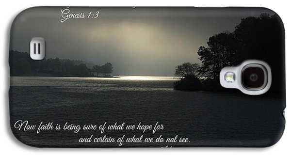 Let There Be Light Bible Art Scripture Art Galaxy S4 Case by Reid Callaway