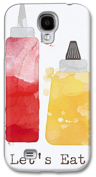 Let's Eat Galaxy S4 Case by Linda Woods