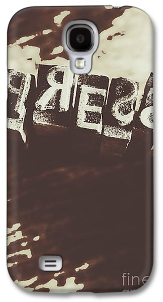 Letter Press Typeset  Galaxy S4 Case by Jorgo Photography - Wall Art Gallery