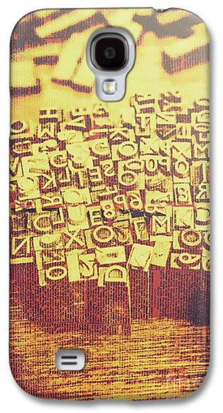 Letterpress Industrial Pop Art Galaxy S4 Case