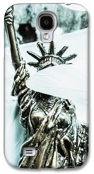 Liberty Blinded By Corruption Galaxy S4 Case by Jorgo Photography - Wall Art Gallery