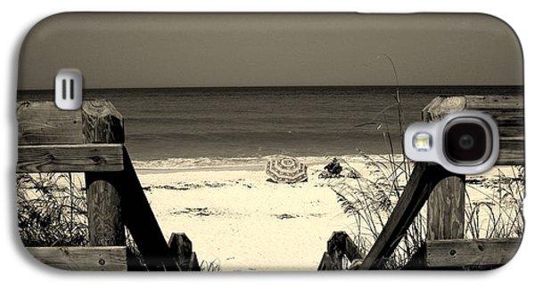 Beach Landscape Galaxy S4 Cases - Life is a beach Galaxy S4 Case by Susanne Van Hulst