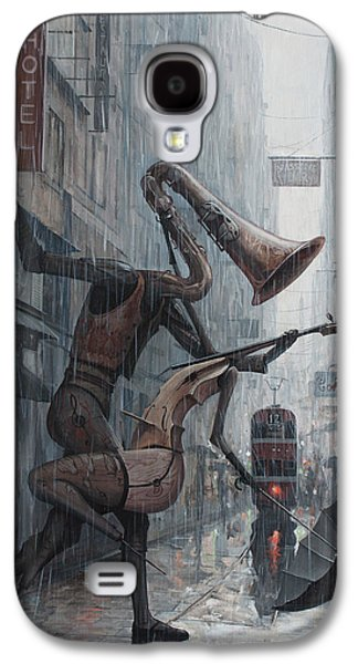 Saxophone Galaxy S4 Case - Life Is  Dance In The Rain by Adrian Borda