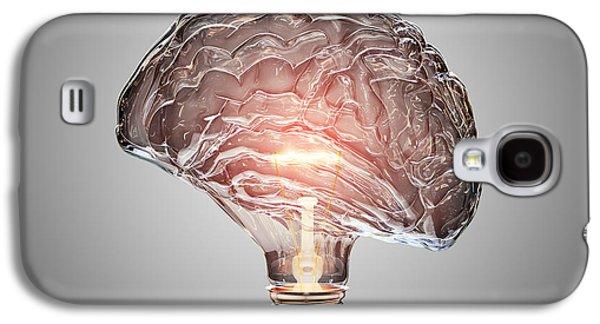 Light Bulb Brain Galaxy S4 Case by Johan Swanepoel