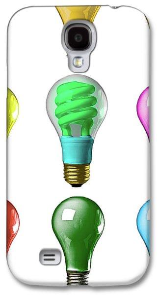 Thinking Galaxy S4 Cases - Light bulbs of a different color Galaxy S4 Case by Bob Orsillo