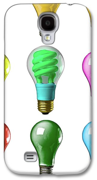 Light Bulbs Of A Different Color Galaxy S4 Case by Bob Orsillo
