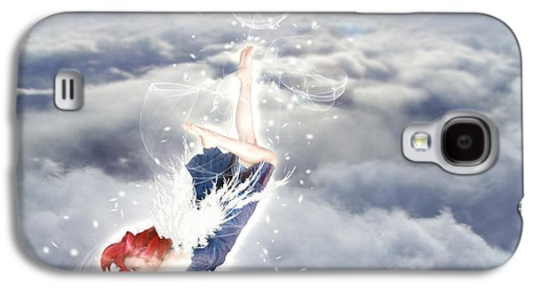 Photo Manipulation Galaxy S4 Cases - Light Play Angels Descent Galaxy S4 Case by Nikki Marie Smith