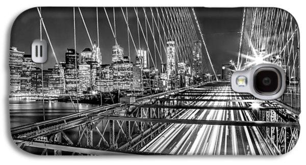 Light Trails Of Manhattan Galaxy S4 Case by Az Jackson