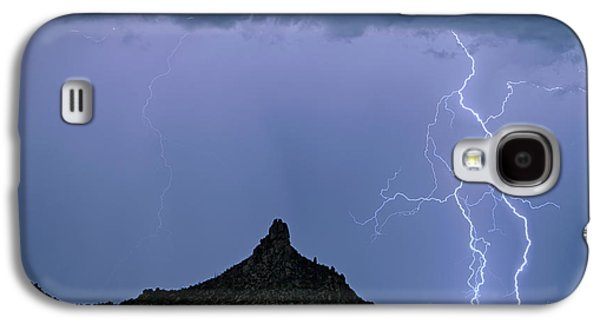 Galaxy S4 Case featuring the photograph Lightning Bolts And Pinnacle Peak North Scottsdale Arizona by James BO Insogna