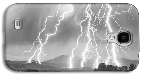 Lightning Striking Longs Peak Foothills 4cbw Galaxy S4 Case by James BO  Insogna