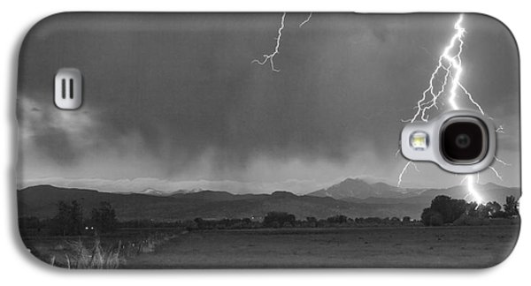 Lightning Striking Longs Peak Foothills 5bw Galaxy S4 Case