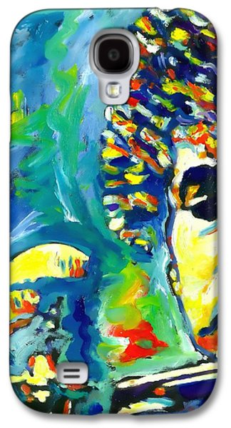 Bob Dylan Paintings Galaxy S4 Cases - Like A Rolling Stone Galaxy S4 Case by Vel Verrept