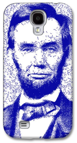 Lincoln Abstract Blue Galaxy S4 Case by Greg Collins