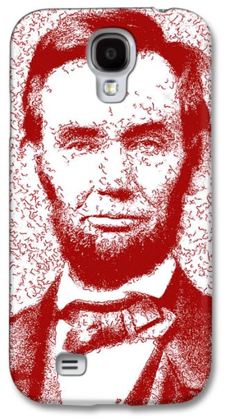 Lincoln Abstract Red Galaxy S4 Case by Greg Collins