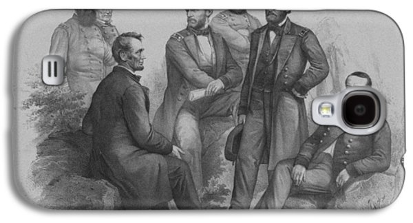Lincoln And His Generals Galaxy S4 Case by War Is Hell Store