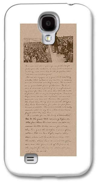 Lincoln And The Gettysburg Address Galaxy S4 Case by War Is Hell Store