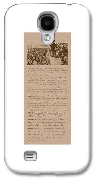 Lincoln And The Gettysburg Address Galaxy S4 Case
