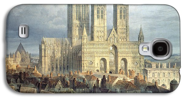 Lincoln Cathedral From The North West Galaxy S4 Case by Frederick Mackenzie