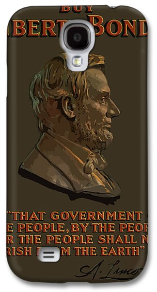 Lincoln Gettysburg Address Quote Galaxy S4 Case by War Is Hell Store