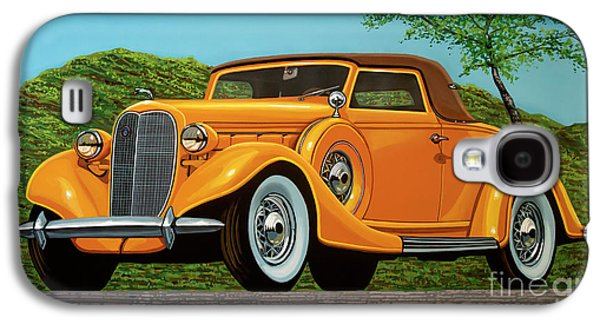 Lincoln K Convertible 1935 Painting Galaxy S4 Case