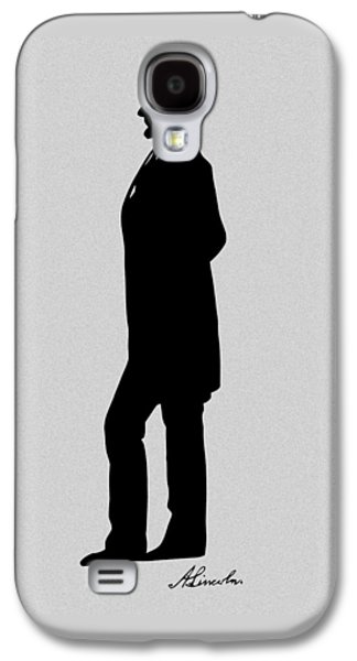 Lincoln Silhouette And Signature Galaxy S4 Case by War Is Hell Store