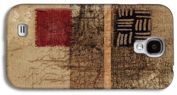 Linen Weave Galaxy S4 Case by Carol Leigh